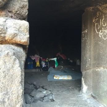 Cave being used by trekkers
