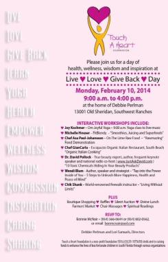 Invitation Touch A Heart Foundation Invitation 2014 Live, Love and Give Back Day