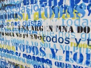 stencils supporting Cristina Kirchner