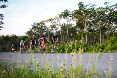 The cruise before the time trial. Photo courtesy of Thanyapura Health & Sports Resort.