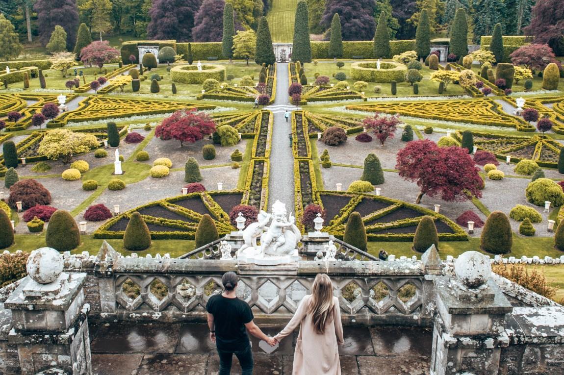 drummond castle gardens outlander filming spot