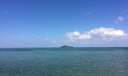 島尻港から見る大神島