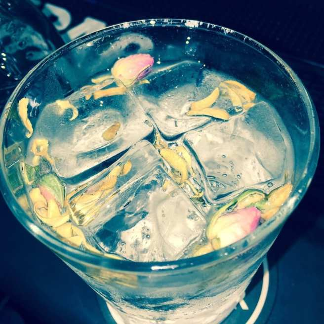G&T with flowers