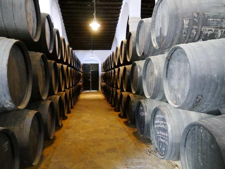 large brandy casks
