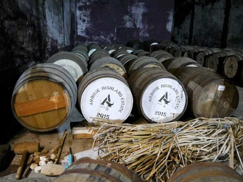 Arbikie Highland whisky casks