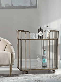 Mirrored drink trolley