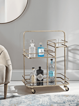 brass drink trolley