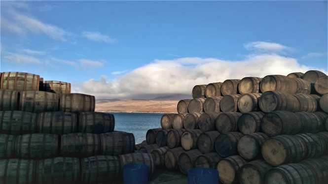 scotch whisky barrels in Islay