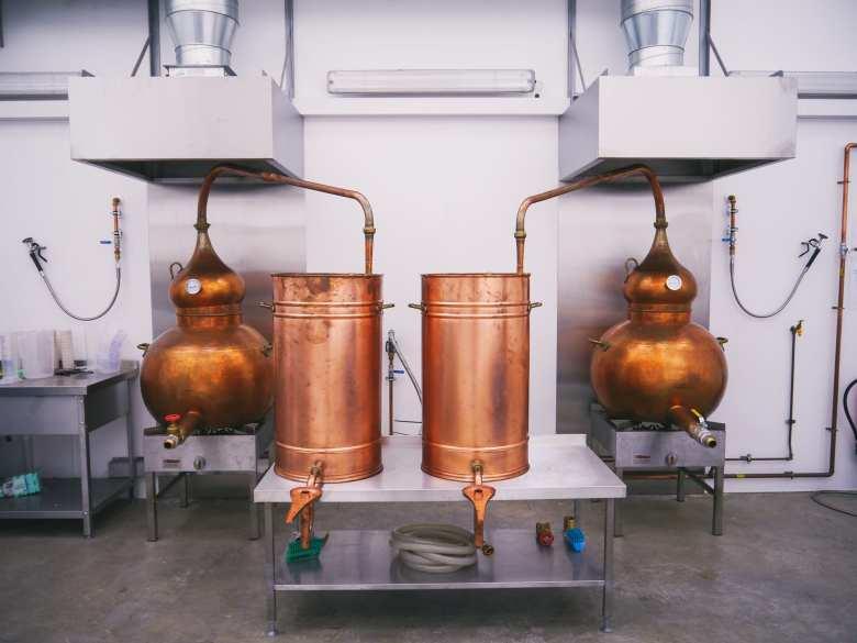Pot Stills at Orkney Distillery