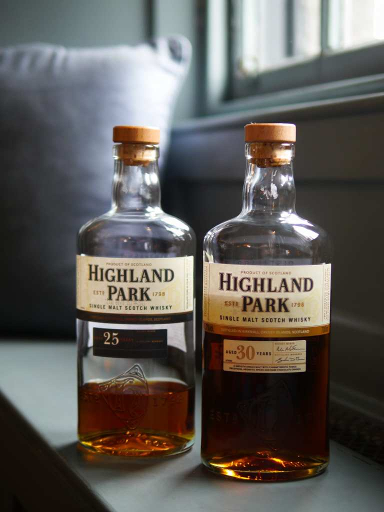 Two bottles of Highland Park whisky