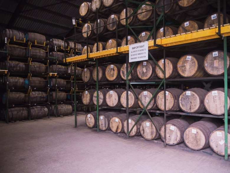 whisky warehouse at Scapa