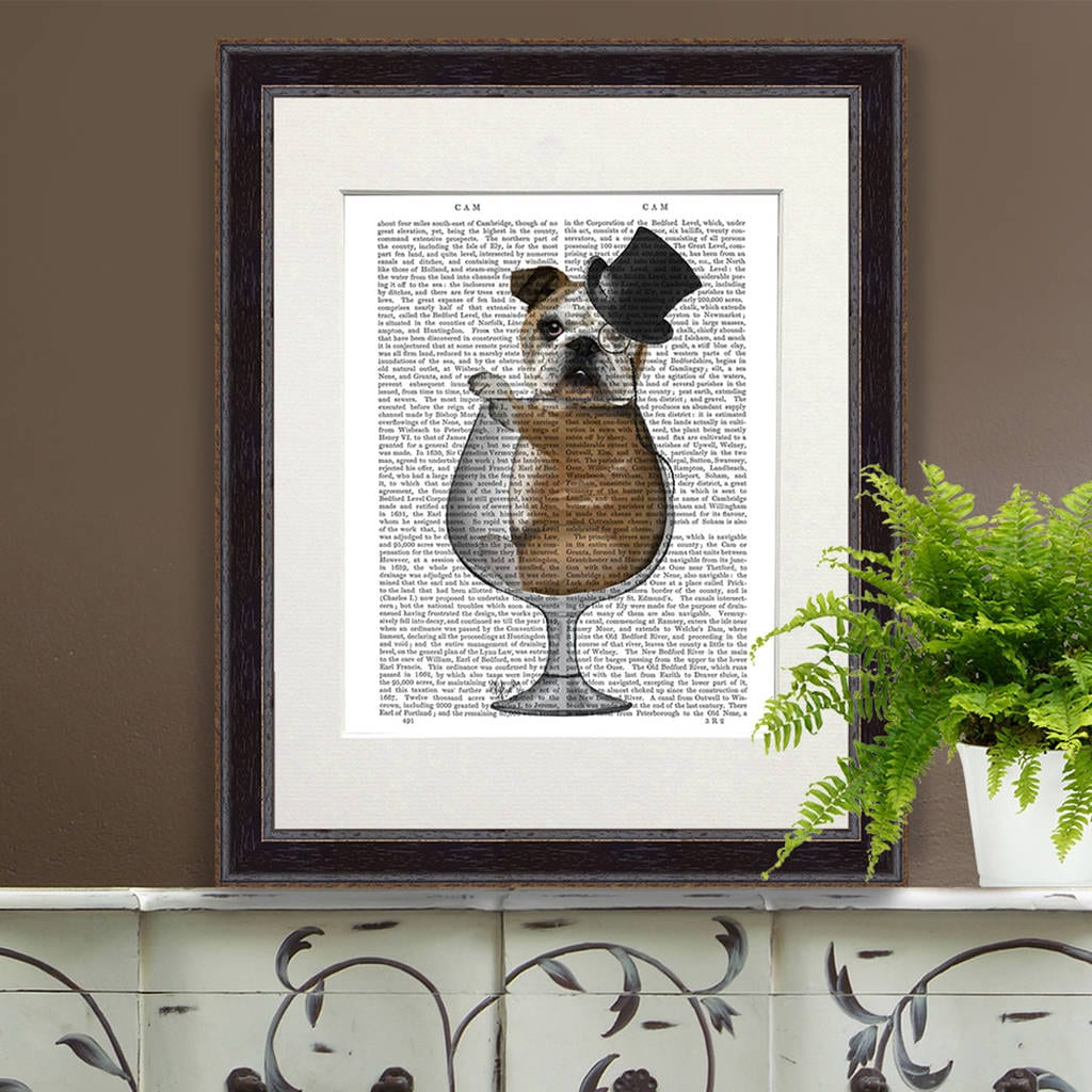 dog in a glass print