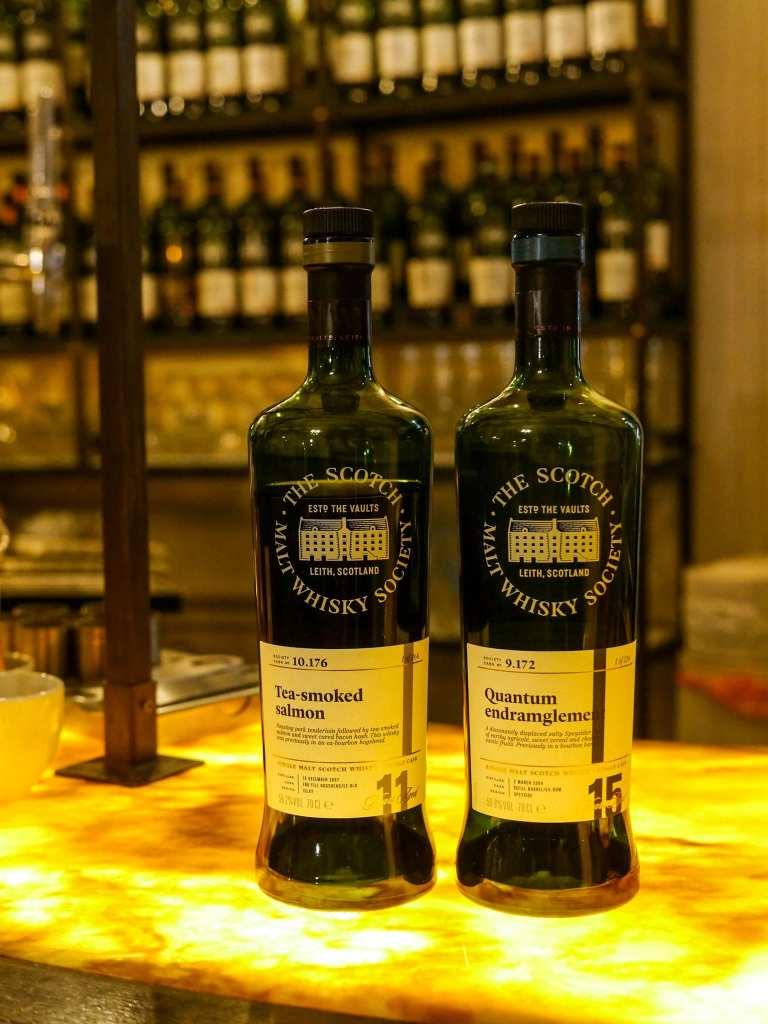 Scotch Malt Whisky Society whisky bottles