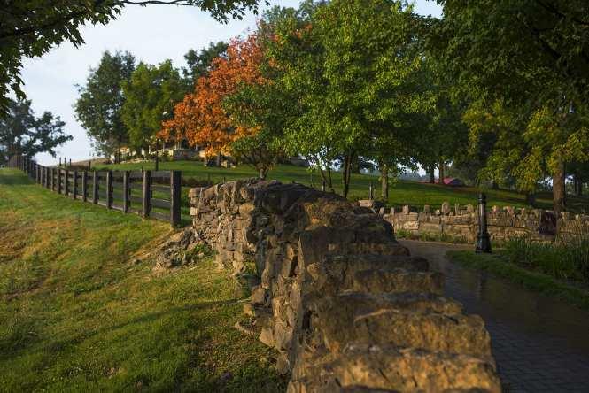 Distillery grounds in Kentucky