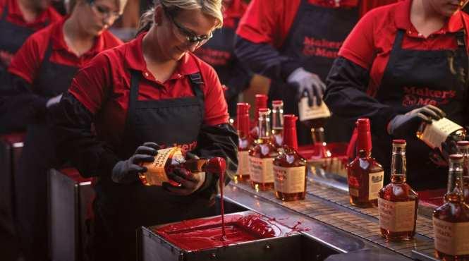woman at distillery