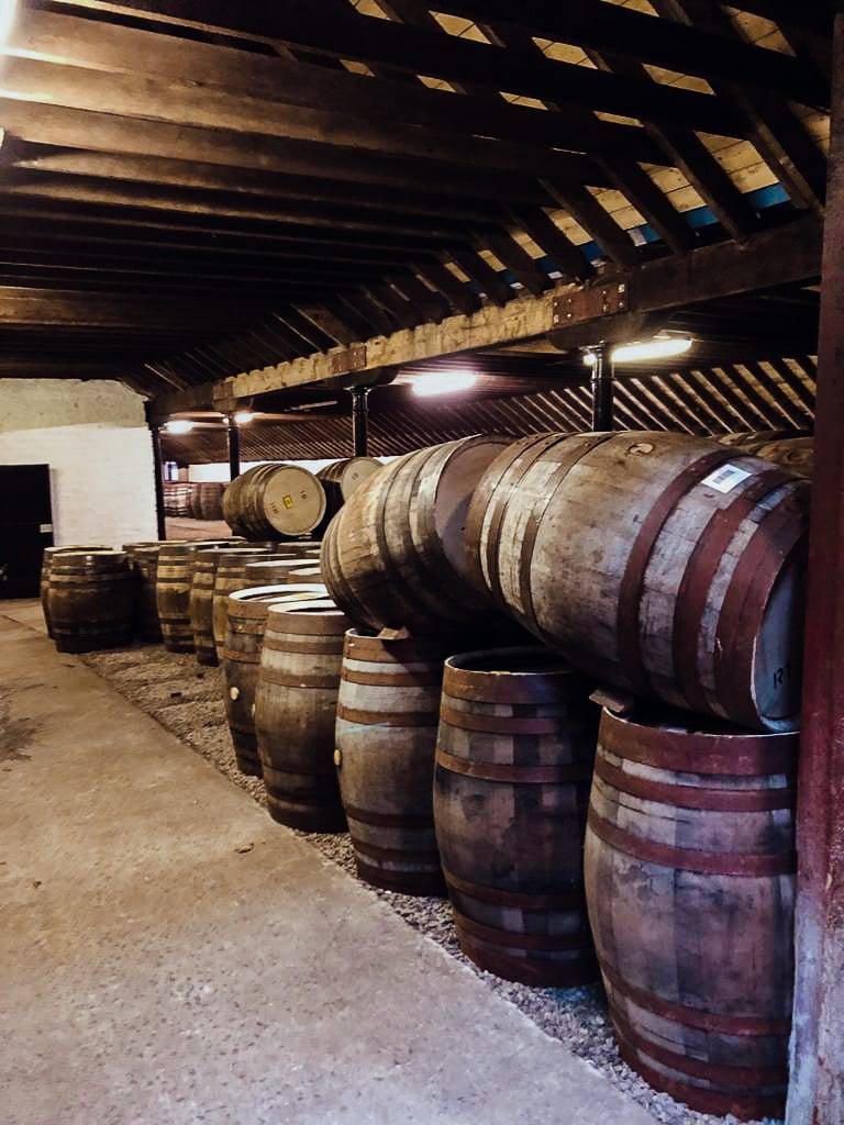 Sherry casks in a warehouse