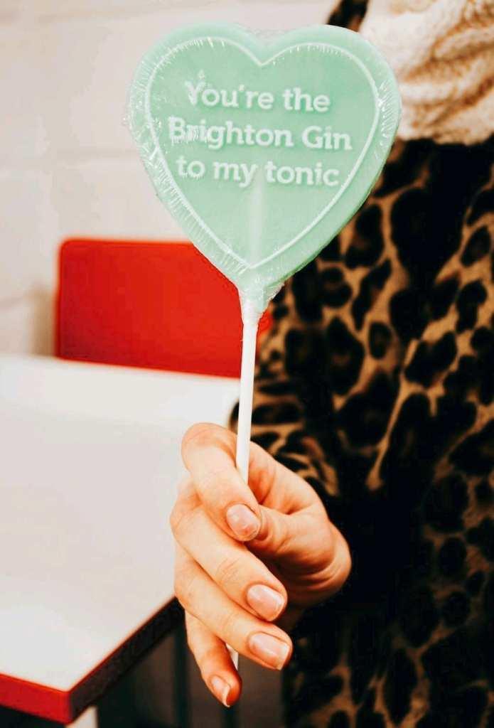 Brighton Gin lollypop