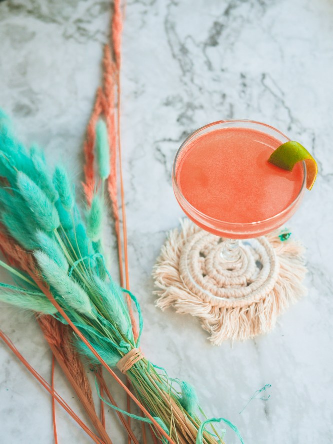 Mezcal and tequila cocktail