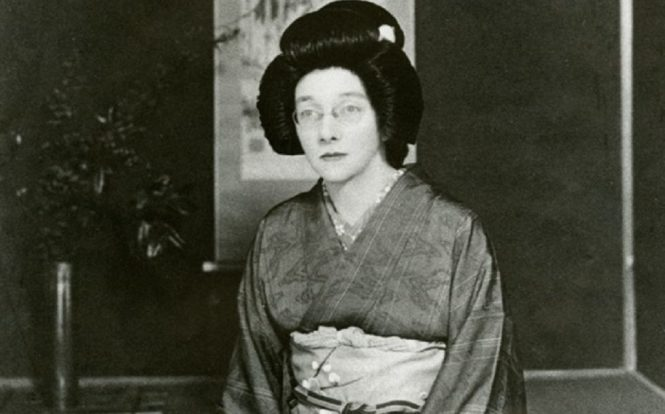 woman behind japanese whisky