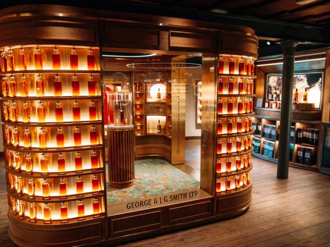 Whisky bottle display