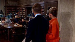 Image result for breakfast at tiffany's audrey and george in library color