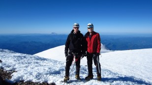 Grant and I at the Summit of Mt Rainier