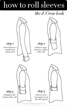 Roll your sleeves the J Crew way…