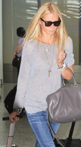 Practising what she preaches - Gwyneth in grey