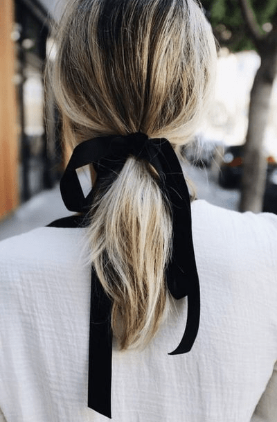 Black hair ribbon