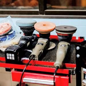 Machine wax and polish service.