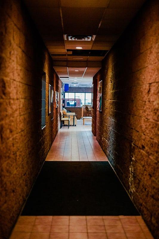 On the Spot Detailing office hallway Woodbury, MN.