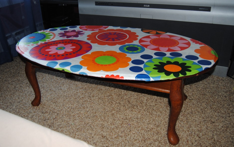 1960's Inspired Decoupage Coffee Table  (1/2)