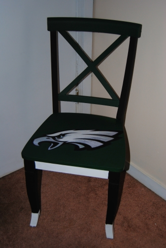 It's Sunday,  Have a Seat: Upcycled, Hand Painted Decoupage Football Lover's Chair (5/5)
