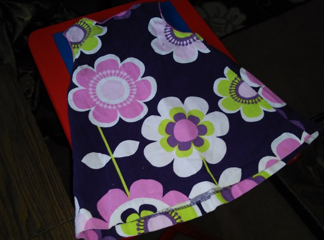 Crazy for Corduroy: Girls Flower Power Decoupage Side Table (2/6)