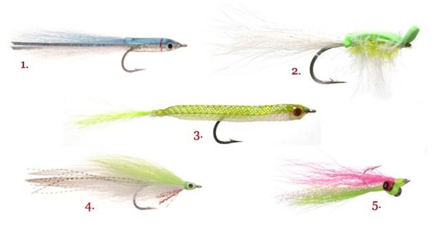 Here are some flies for beginner saltwater fishermen