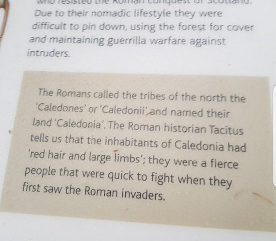 There was plenty of historical information en route