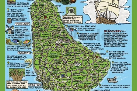 Tourist Of Barbados With Attractions Map Full HD MAPS Locations - Tourist map of barbados