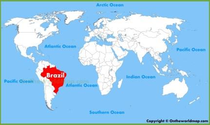 Αποτέλεσμα εικόνας για brazil on a map