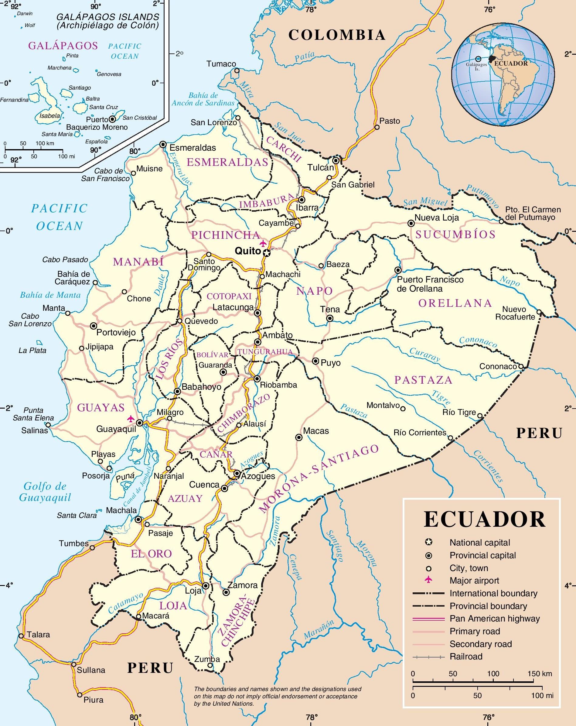 Ecuador Map Coloring Pages