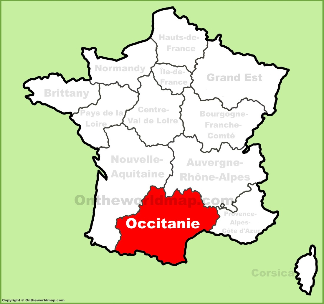 Map Of Provence Region Of France And Italy