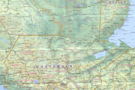 large detailed of guatemala with cities and towns map » ..:: Edi ...