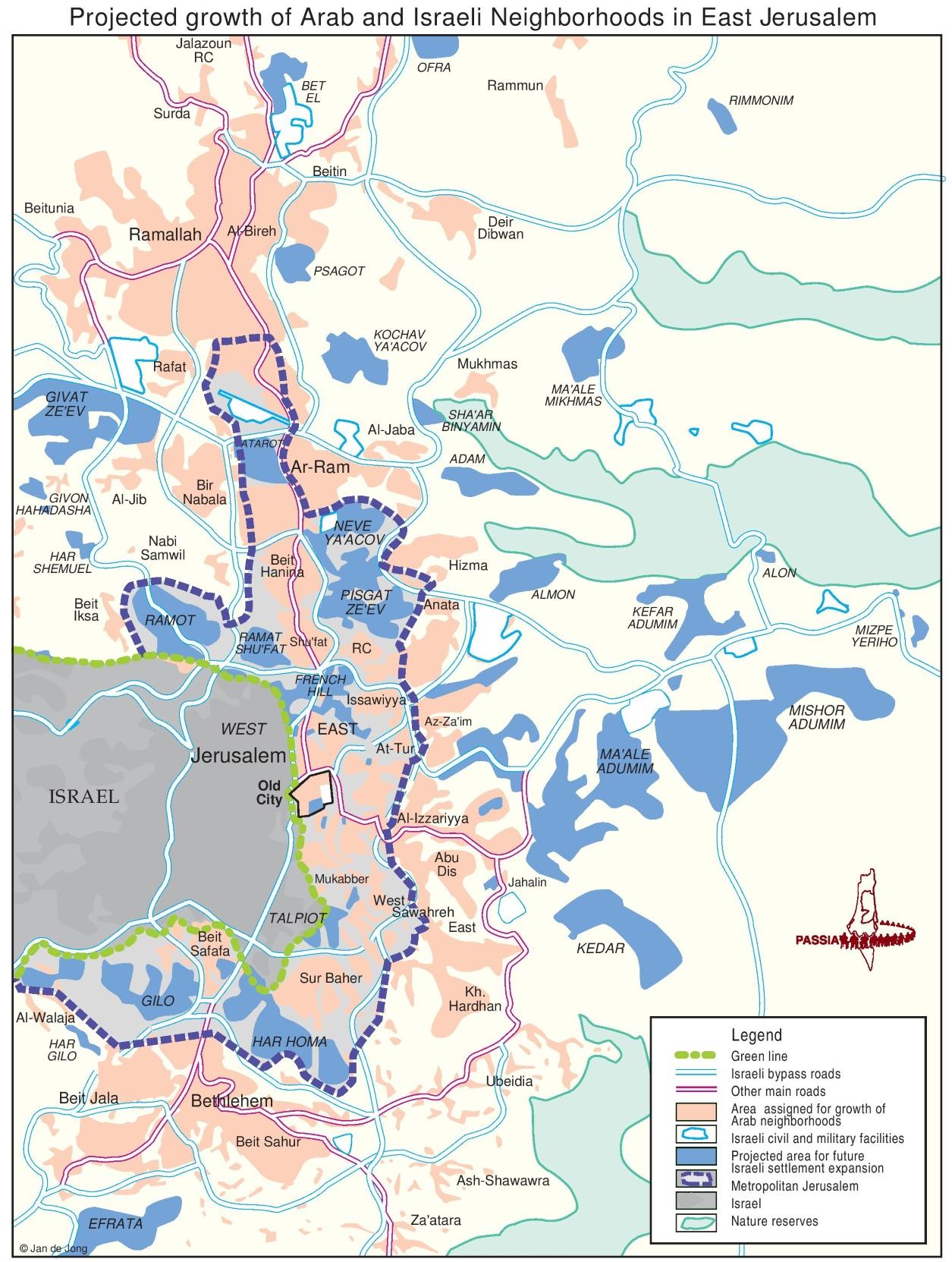 Jerusalem Administrative Divisions Map