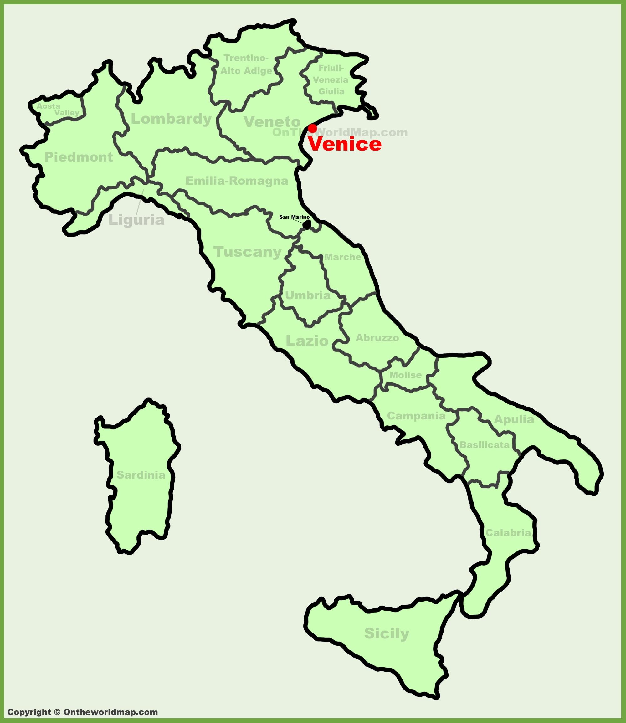 map in venice