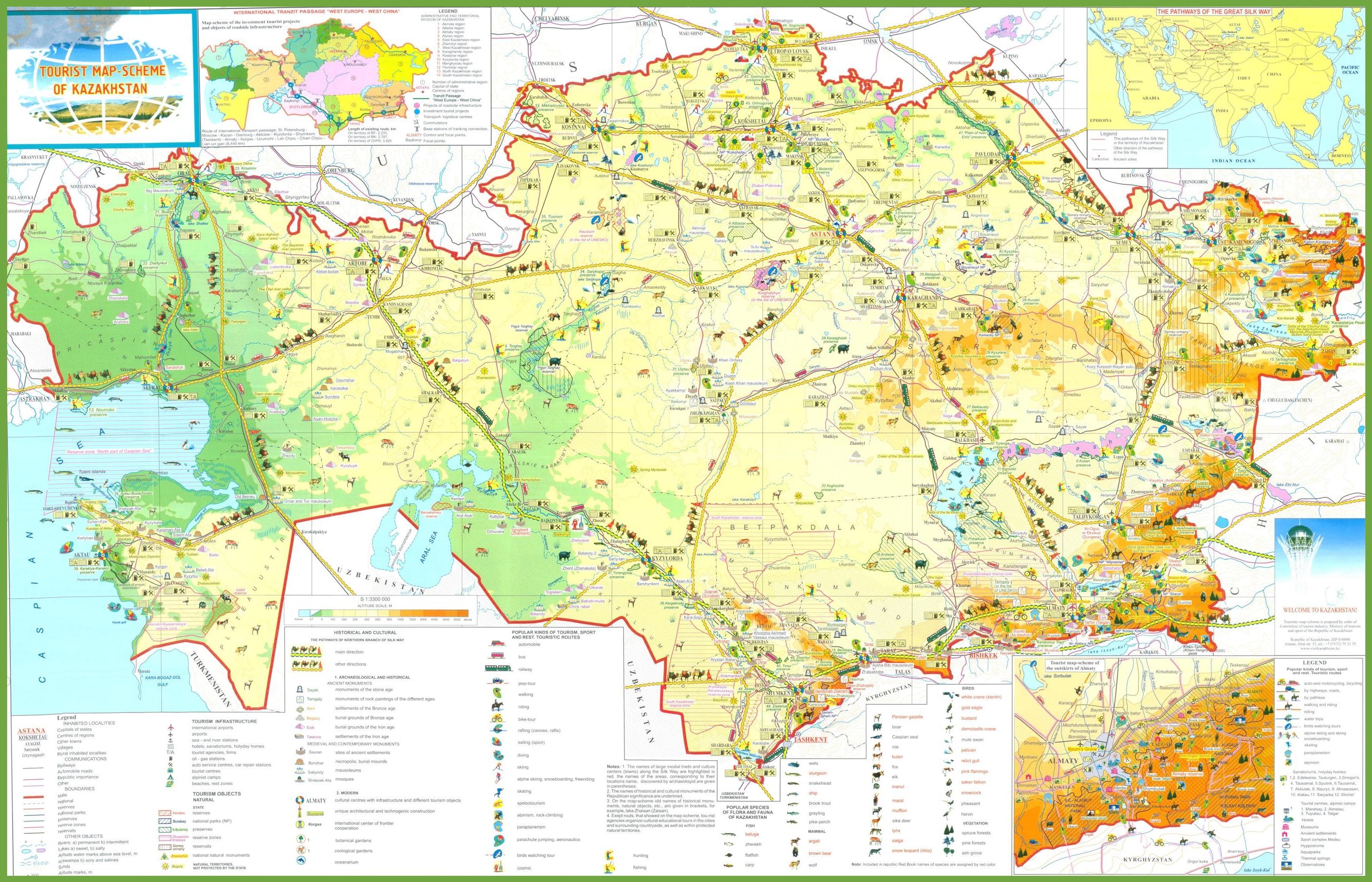 map in kazakhstan