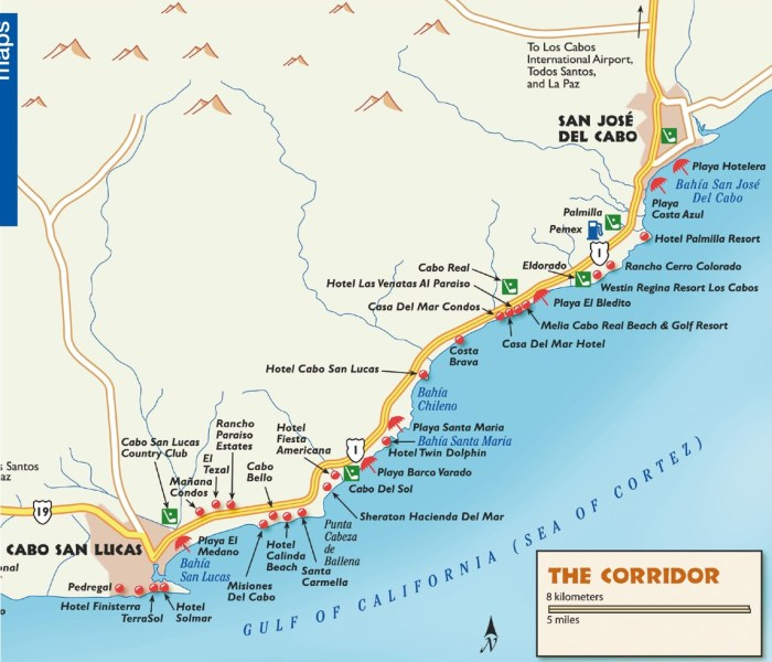 los cabos maps mexico maps of los cabos los cabos tourist map cabo san lucas geo mexico the geography of mexico location of mexico s top seven hotels gu a