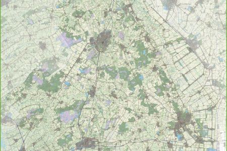 large detailed topographic of south holland map » [HD Images ...