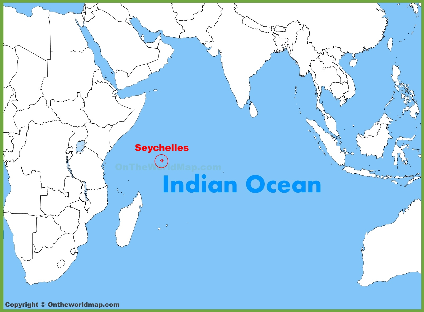 Image result for seychelles on indian ocean map