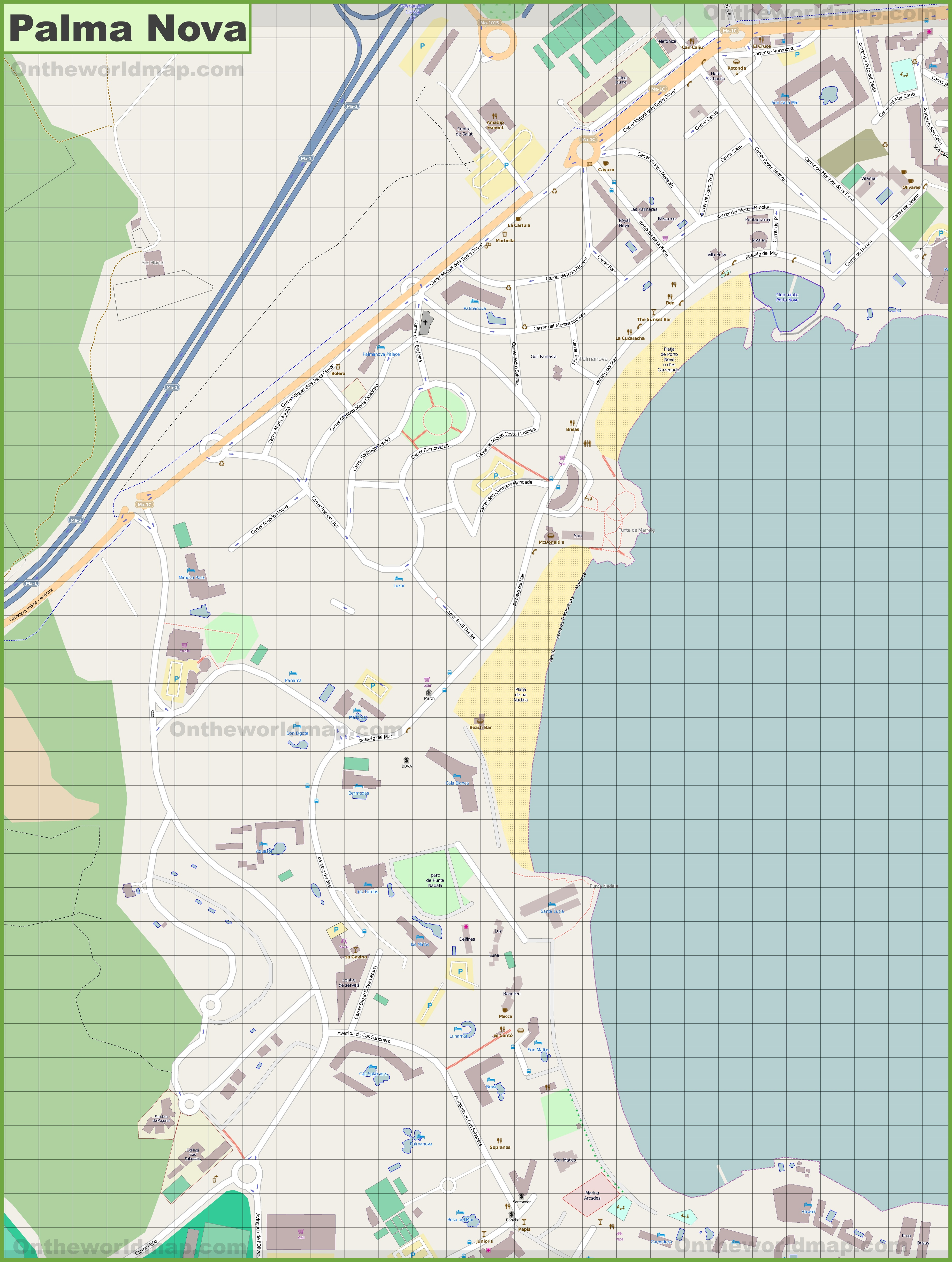 cala ratjada map » Full HD MAPS Locations - Another World ...
