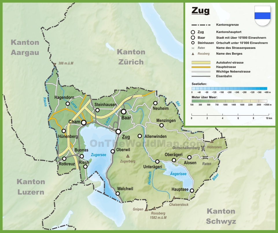 Image result for zug switzerland map