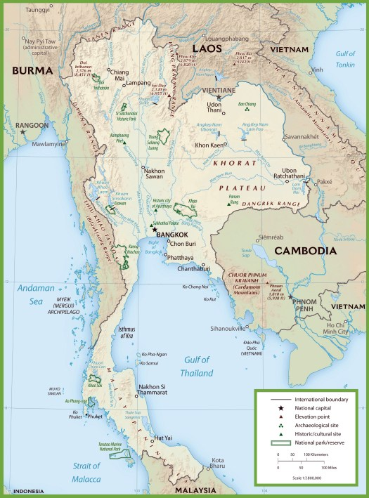 Maps Of Thailand
